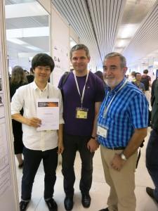 左から柿澤さん,JurajMajzla氏(EMU秘書),FernandoGervilla氏(EMU副会長