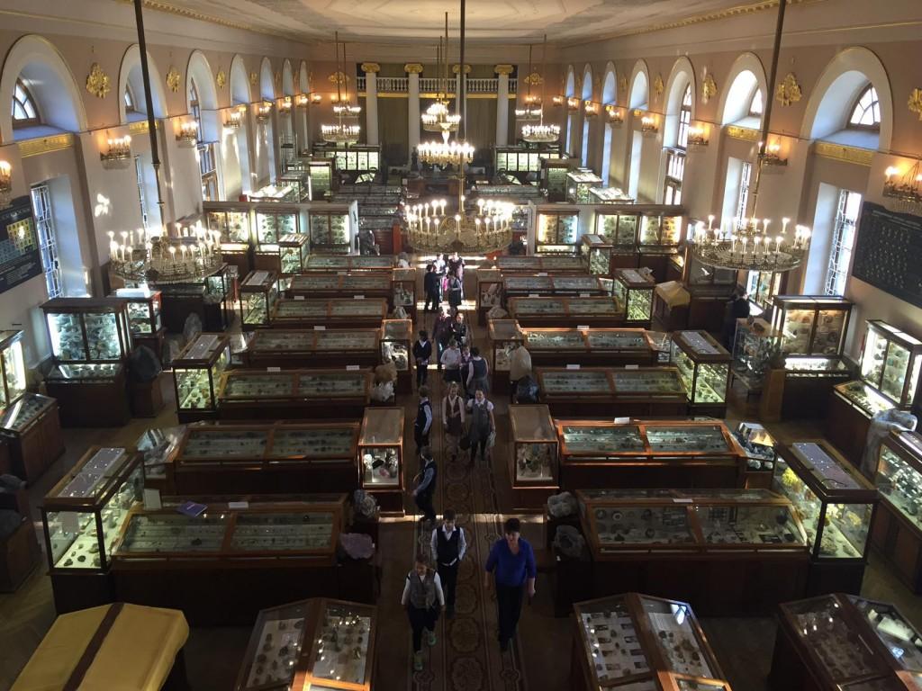 A.E.フェルスマン鉱物博物館の展示室